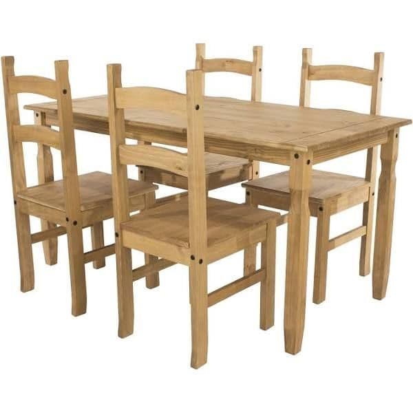 Puebla Waxed Pine Large Rectangular Dining Table CRTB3